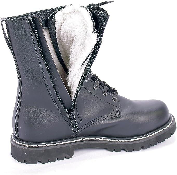 Zip Side with Pilot German Lined Fur Faux Winter Stiefel
