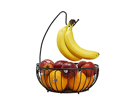 CAXXA - Frutero de alambre con colgador de plátano, color ...