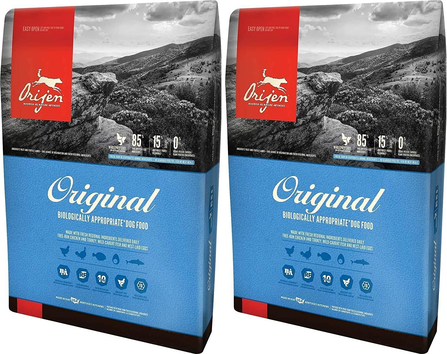 (2 Pack) Orijen Original Dry Dog Food, 4.5 lb Per Bag 819MGV6OLFL