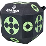 Elkton Outdoors 18-Sided 3D Cube Reusable Archery Target Constructed With Rapid Self Healing XPE Foam for all Arrow Types