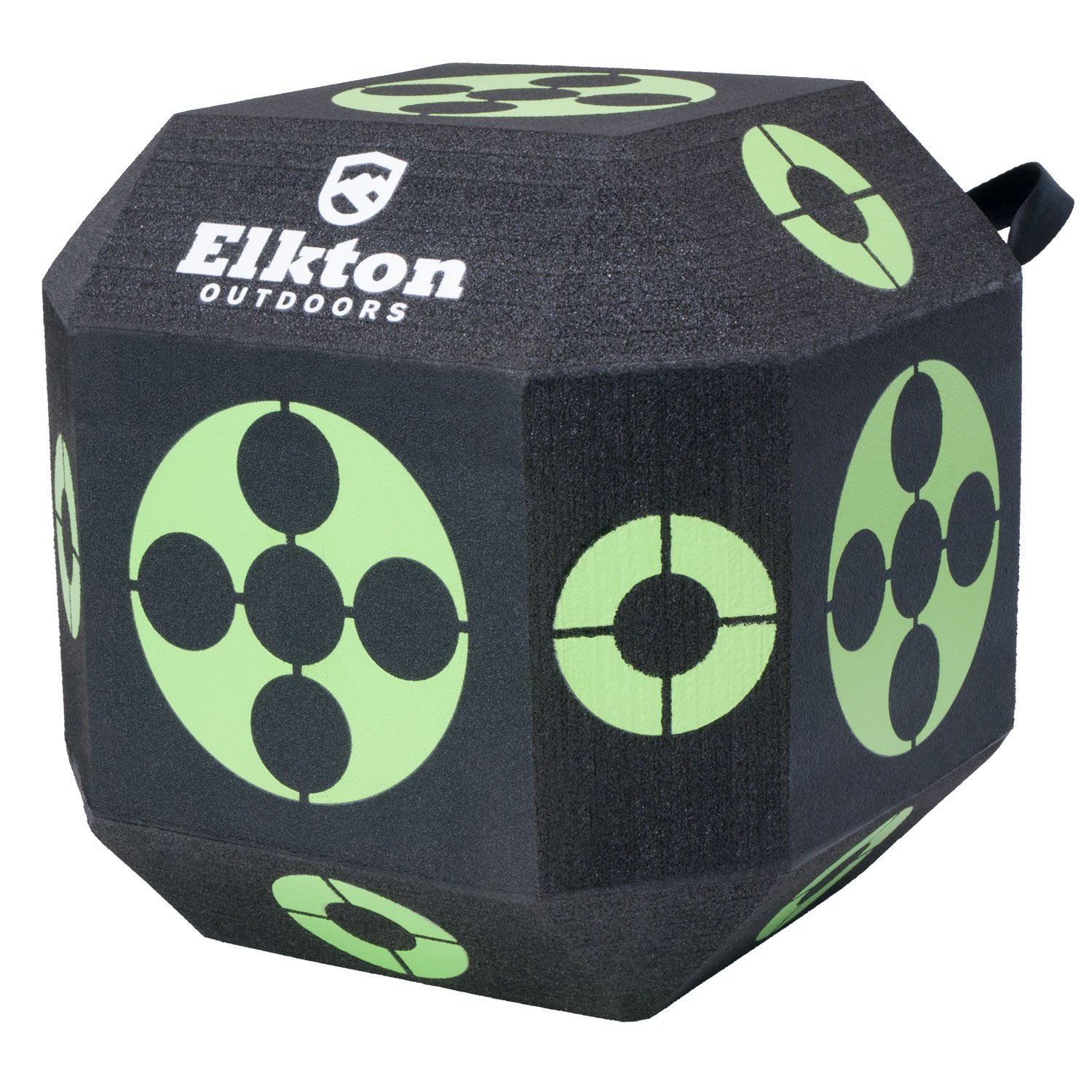 Elkton Outdoors 18-Sided 3D Cube Reusable Archery Target Constructed With Rapid Self Healing XPE Foam for all Arrow Types by Elkton Outdoors