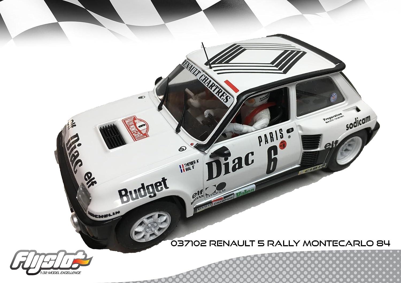 Flyslot 037102 Renault 5 Rally Montecarlo 84: Amazon.es: Juguetes y juegos