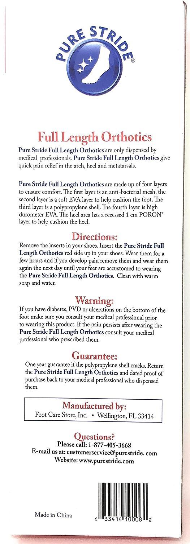 PURE STRIDE Full Length Orthotics