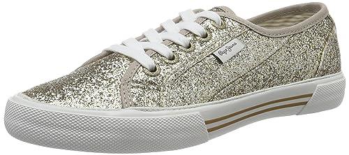 London - Zapatillas Mujer, Plateado (Silver), 41 (EU) Pepe Jeans London