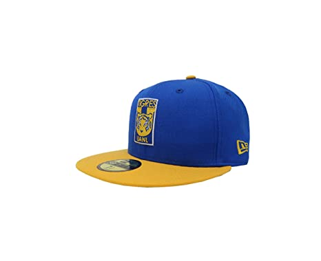 New Era 59Fifty Hat Tigres De Monterrey Soccer Club MX League Blue/Gold Fitted Cap