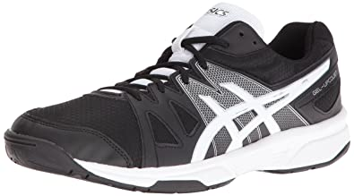 ASICS Men's Gel-Upcourt Volleyball Shoe, Black/White/Silver, ...