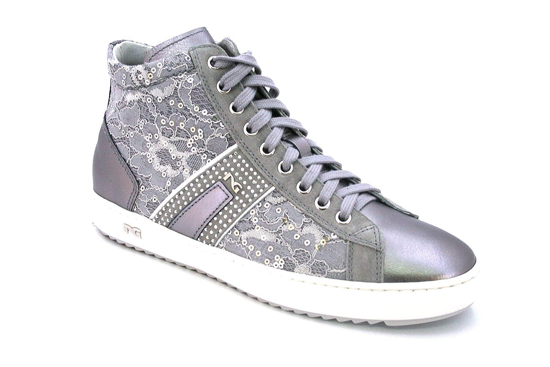 Nero Giardini 07562 07562 07562 Grigio Scarpe Donna Pelle scarpe da ginnastica Pizzo Alta Made in  4bafe1