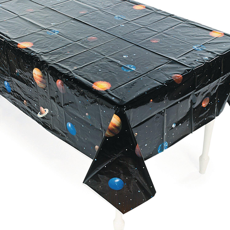 Weltraum Planeten Tischdecke aus PVC Tischdeko Kindergeburtstag Mottoparty Deko mit Palandi® Sticker cama24com