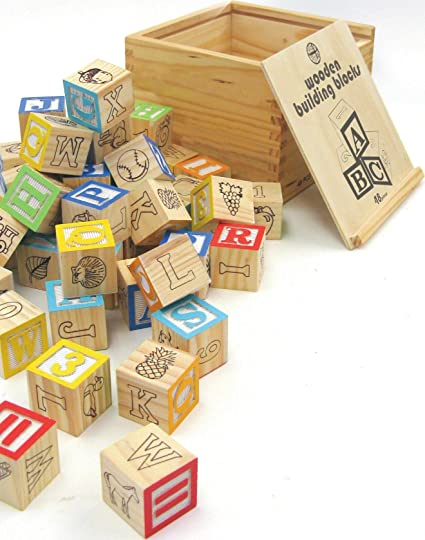Amazoncom House Of Marbles Wooden Building Blocks Toys Games