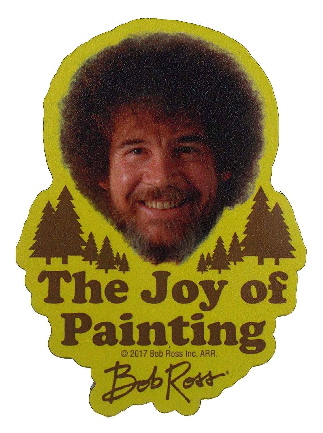 Bob Ross Socks /& The Joy of Painting Magnet HO-JOYPAINTINGSET Bob Ross Bundle