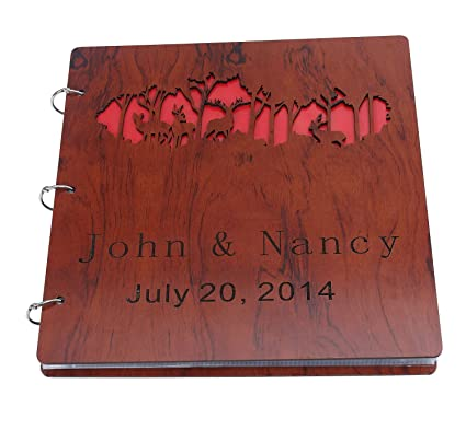 Amazon Customizable Anniversary Scrapbook Wooden Hollow Out
