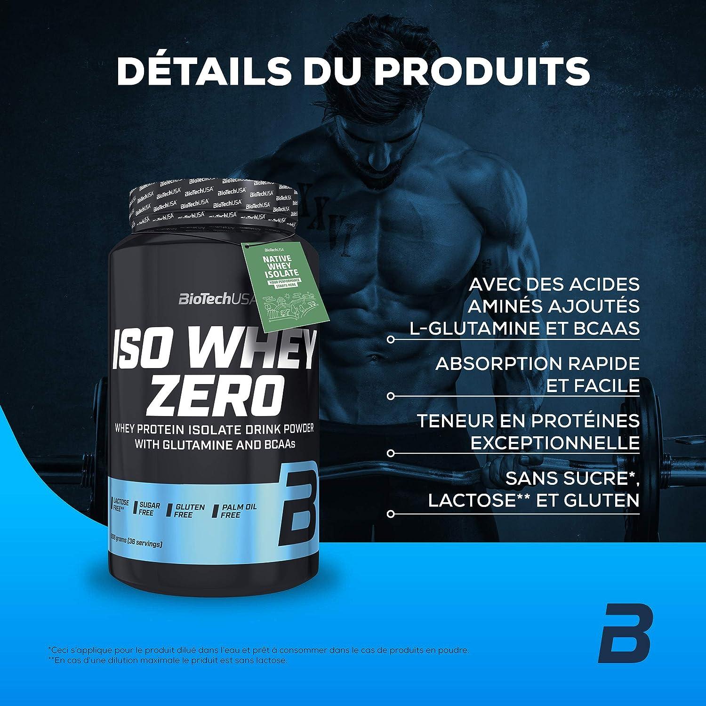 BioTech IsoWhey Zero Suplementos de Proteínas, Sabor Yogur-Albaricoque - 908 gr