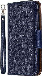 Lomogo Galaxy J6 2018 Hülle Leder, Schutzhülle Brieftasche mit Kartenfach Klappbar Magnetverschluss Stoßfest Handyhülle Case für Samsung Galaxy J6 (2018) - LOBFE130136 Grau