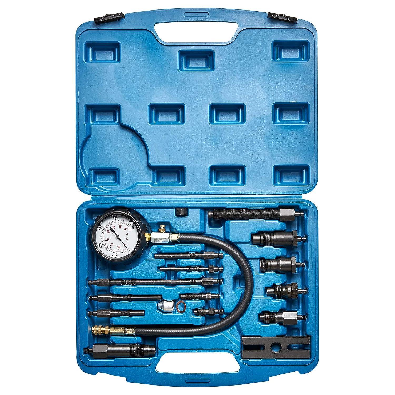KRAFTPLUS® K.286-6266 Juego de compresímetro para motores diésel turismo / camión - 19 piezas: Amazon.es: Coche y moto