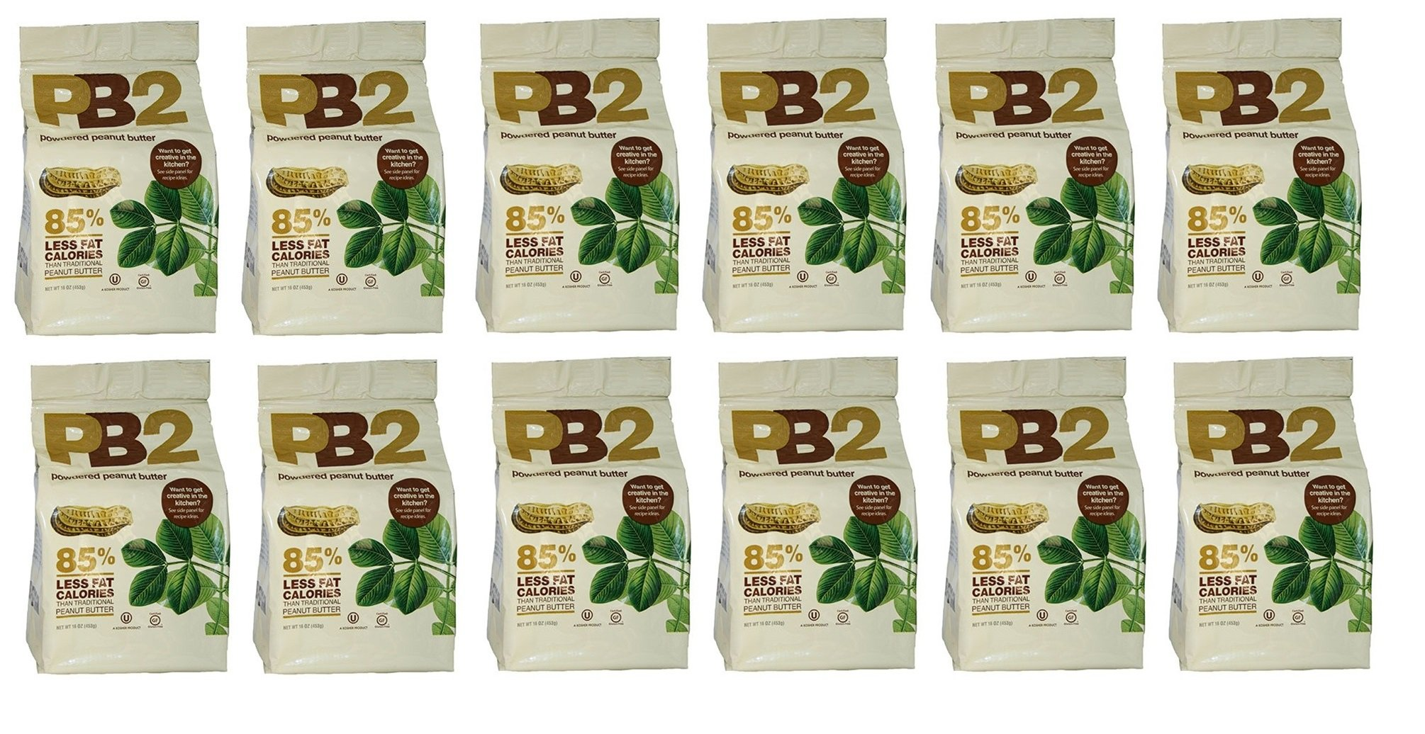 Bell Plantation Powdered Peanut Butter 16 oz - 12 Pack
