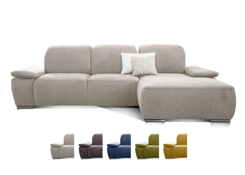 Attraktiv Sofa Sitztiefenverstellung Sammlung Von Cavadore Ecksofa Tabagos / Große Couch Mit