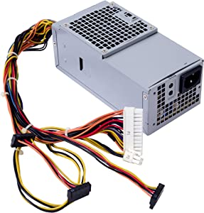 250W Power Supply for DELL Optiplex 390 790 990 3010 Inspiron 537s 540s 545s 546s 560s 570s 580s 620s Vostro 200s 220s 230s 260s 400s Studio 540s 537s 560s Slim Desktop DT Systems D250AD-00 L250NS-00