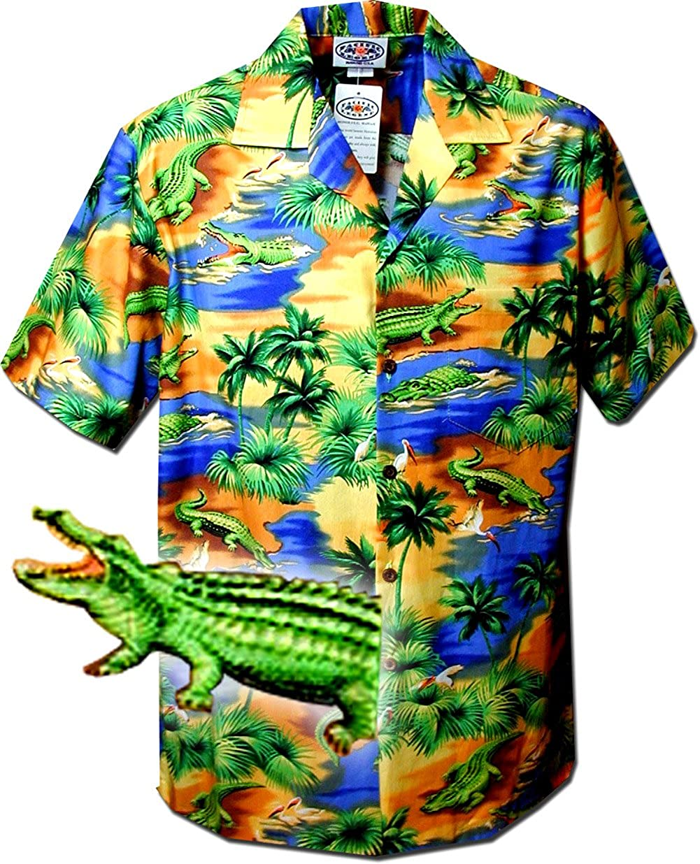 Pacific Legend Tropical Shirts Alligators