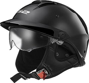 LS2 hh590 Rebelión motocicleta medio casco con Twin Shield y pico