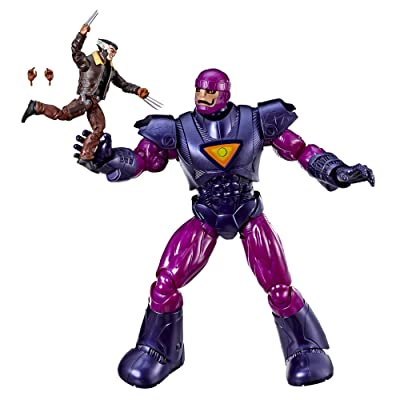 """Hasbro Marvel Legends Series X-Men Days of Future Past 16"""" Electronic Sentinel and 6"""" Wolverine Figure ( Exclusive): Toys & Games"""