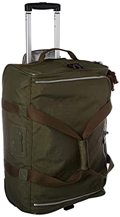 1b3799906415 Amazon.com  Kipling Discover Small Carry-On Rolling Luggage Duffel Jaded  Green  Clothing