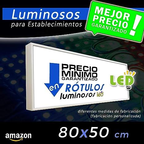 Rótulo Luminoso led 80x50 cajón luminoso para publicidad ...