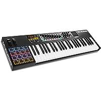 M-Audio - Controlador MIDI USB de 61 teclas con almohadilla táctil X-Y (16 percusiones / 9 faders / 8 codificadores), 49 teclas, 49-Key