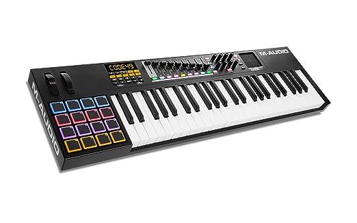 M-Audio Code 49 - Controlador MIDI USB con 49 teclas, 16 pads y controles para la producción, interpretación, VIP 3 y paquete de software incluido, ...