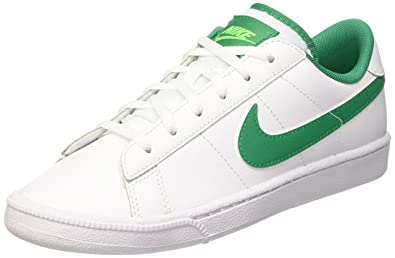 Nike Youths Tennis Classic White Green Leather Trainers 38.5 EU