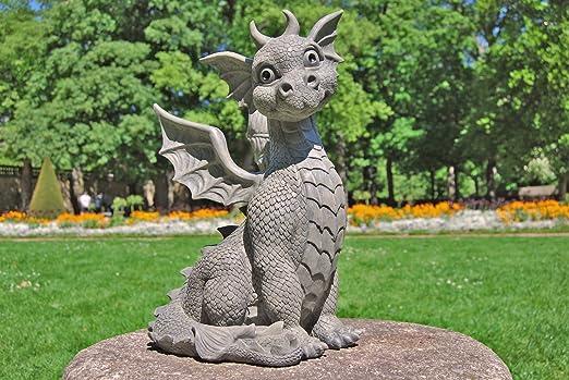 Dragón! Figura! Figura jardín! Niño del dragón! Sentado! Genial!: Amazon.es: Jardín