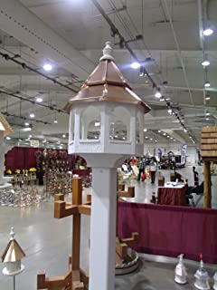product image for Bird Feeder with Double Copper top Amish Made in USA X-Large 30 inches Tall