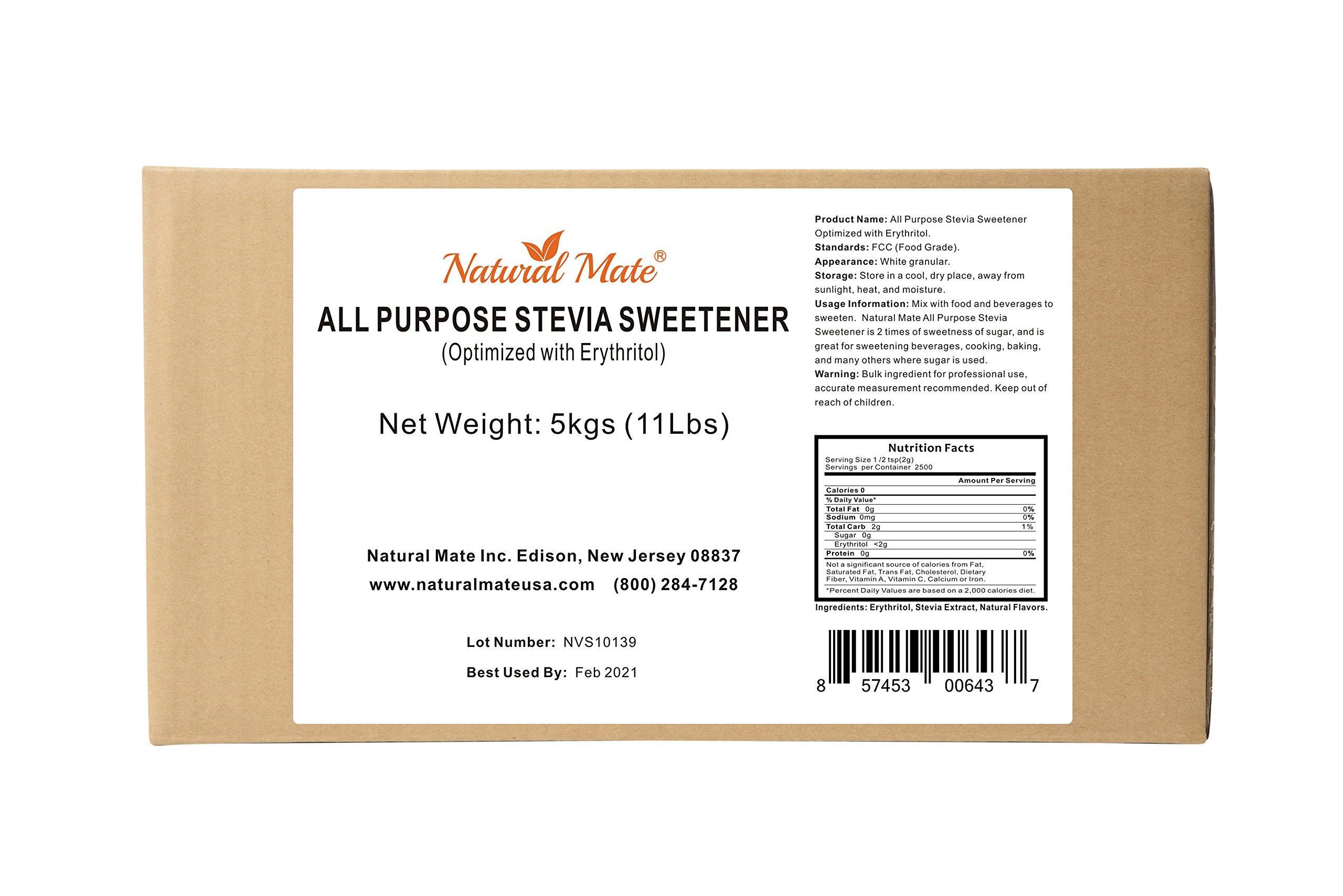 Natural Mate Stevia All Purpose Natural Sweetener, 5kgs/11Lbs   Free Gift: Monk Fruit Sweetener (10oz) by Natural Mate (Image #2)