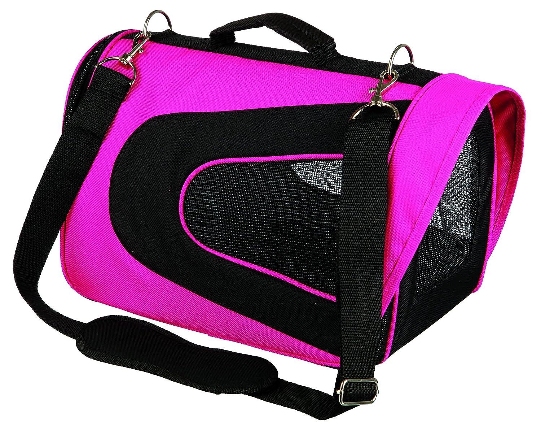 Bag Alina, Nylon, 22 x 23 x 35 cm, Pink Black