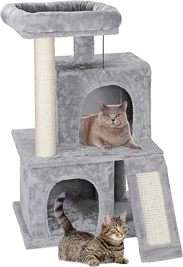 Nova Microdermabrasion 52 Inches Cat Tree Furniture Kittens Activity Tower with Scratching Posts Kitty Pet Play House