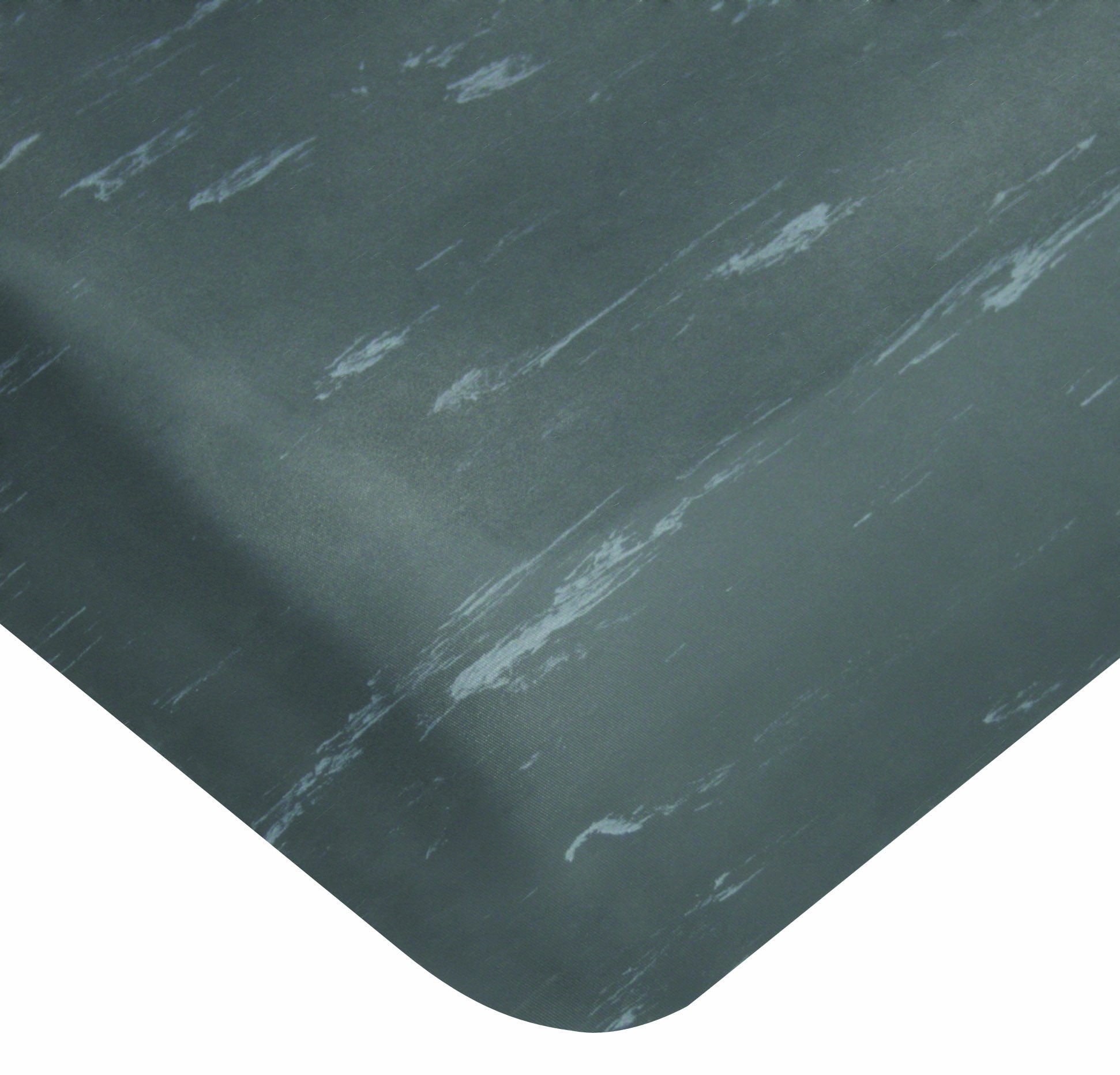 Wearwell PVC 496 Smart Tile-Top Medium Duty Anti-Fatigue Mat, Tapered Edges, for Dry Areas, 2' Width x 3' Length x 1/2'' Thickness, Charcoal