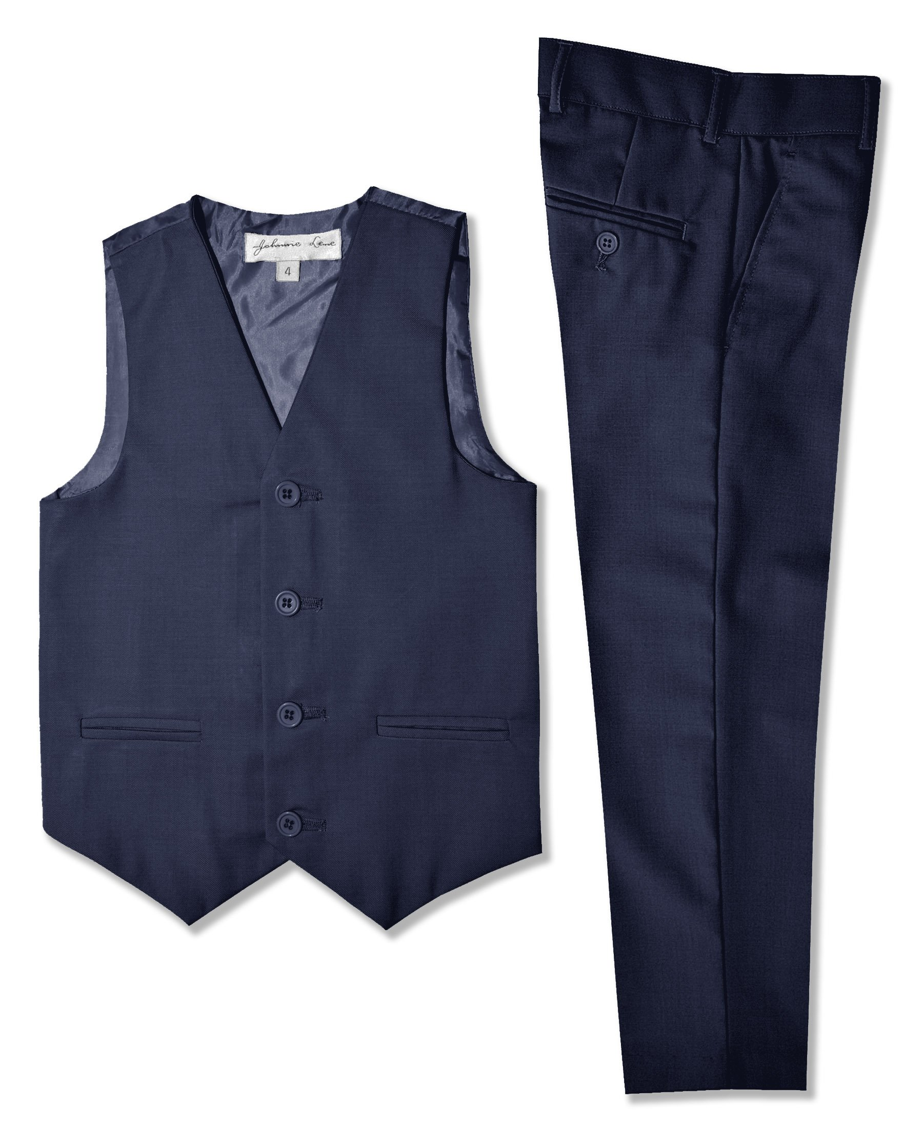 Boys Formal Vest and Pants Set #JL42 (12, Navy)