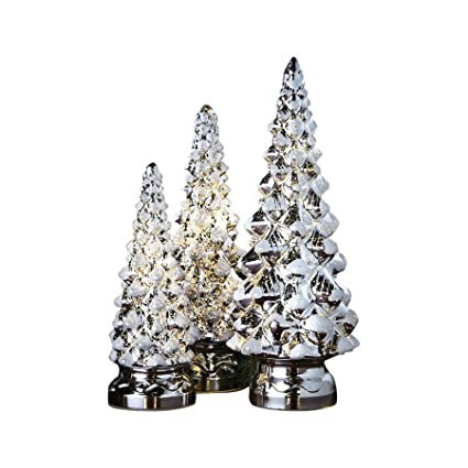 Amazoncom Art Artifact Twinkling Trees Led Lighted Mercury
