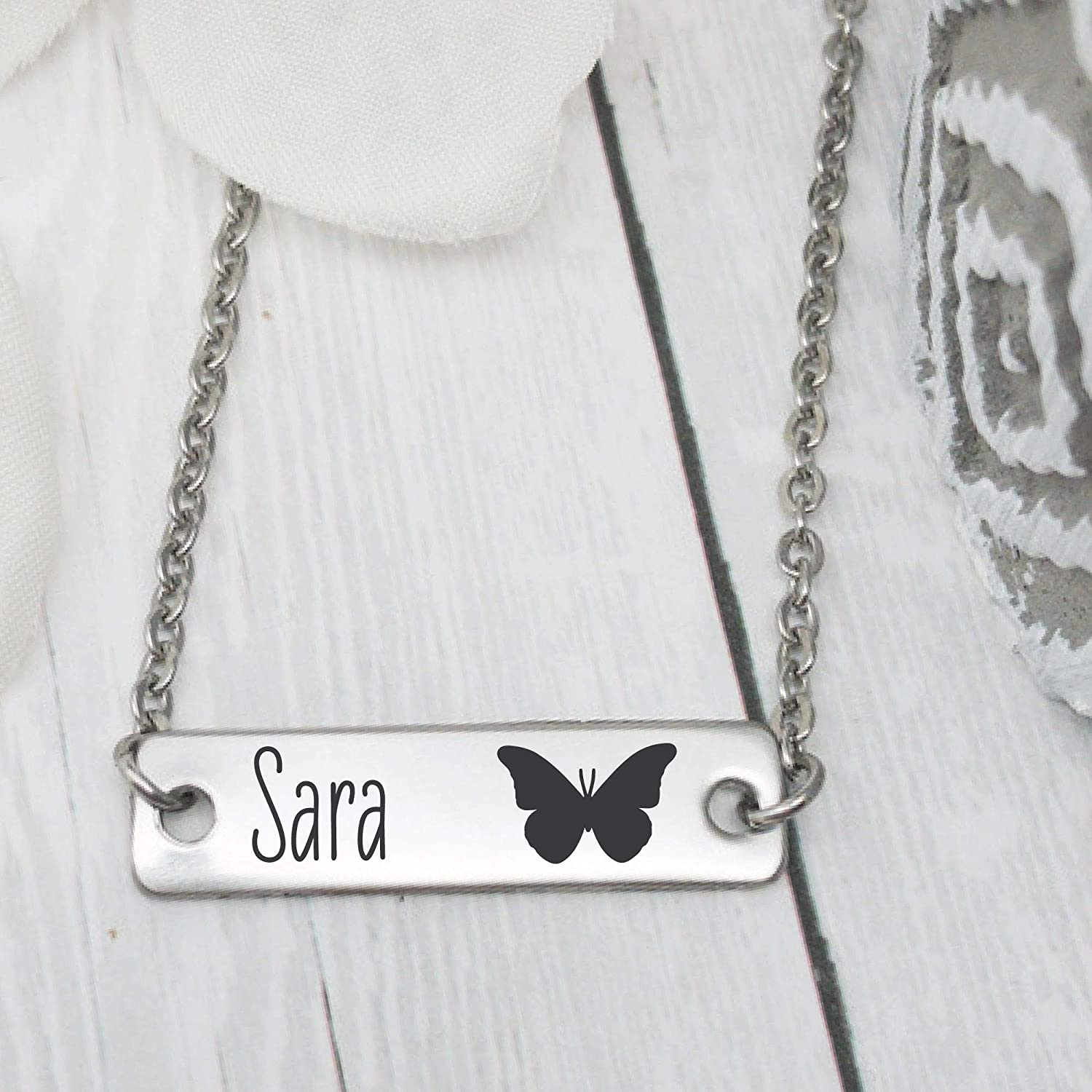 birthday gift Butterfly Necklace Small Girls Jewelry butterfly gift Girls Butterfly Jewelry Girls Name Gift Toddler Necklace