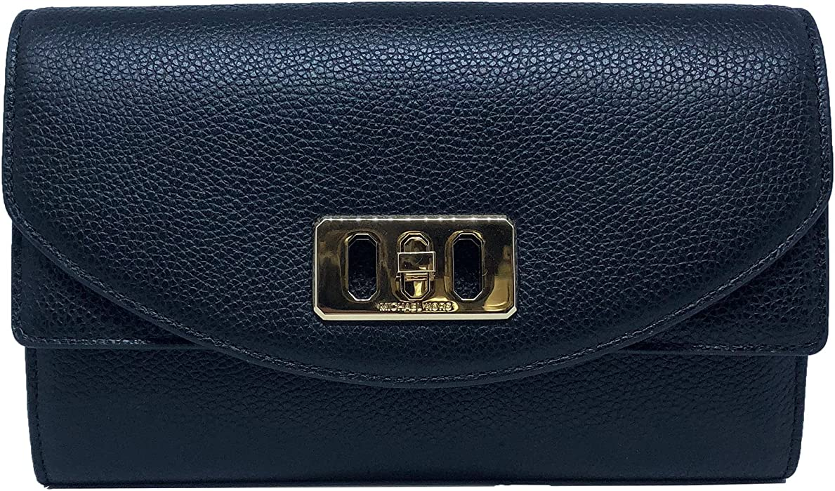 be007f9ea44770 Michael Kors Karson Wallet Clutch Leather Black (35T8GKRC7L ...