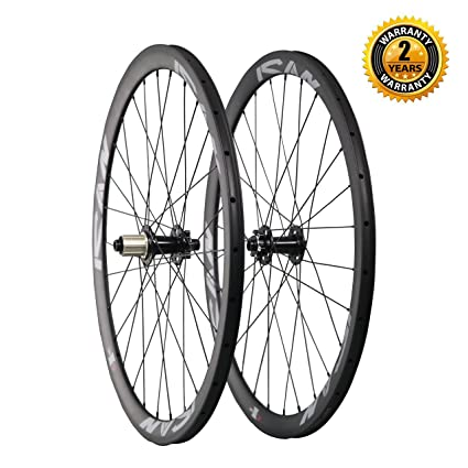 Carbon Road Bike Amazon Com >> Amazon Com Ican Road Bike Disc Brake Wheelset Carbon Clincher 38mm