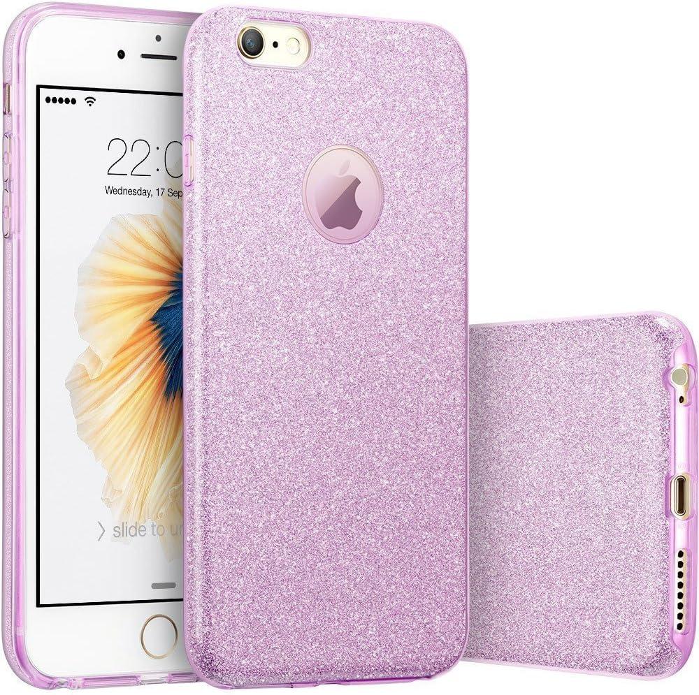 Imikoko iPhone 6s Plus Case, Fashion Luxury Protective Hybrid Beauty Crystal Rhinestone Sparkle Glitter Hard Diamond Case Cover for iPhone 6s/6 Plus