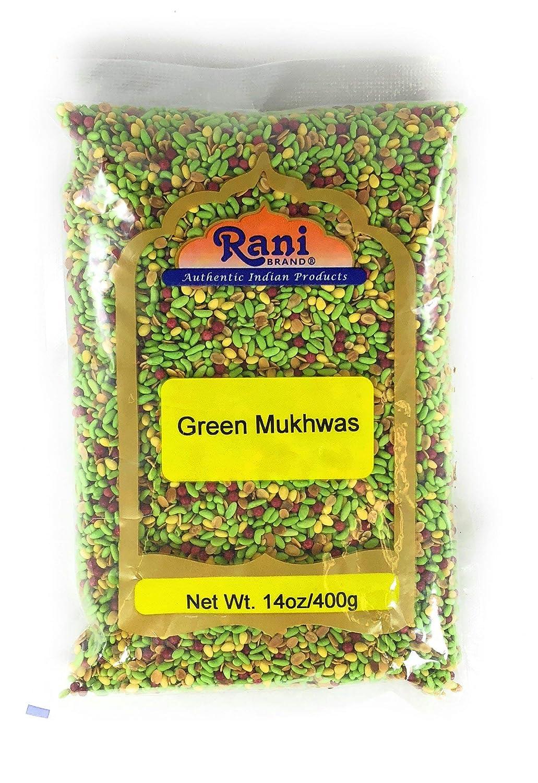 Rani Green Mukhwas (Special Digestive Treat) 14oz (400g) ~ Vegan   Indian Candy Mouth Freshener