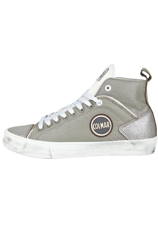Colmar Zapatos con Cordones de Lona Mujer 37 EU|plateado/blanco