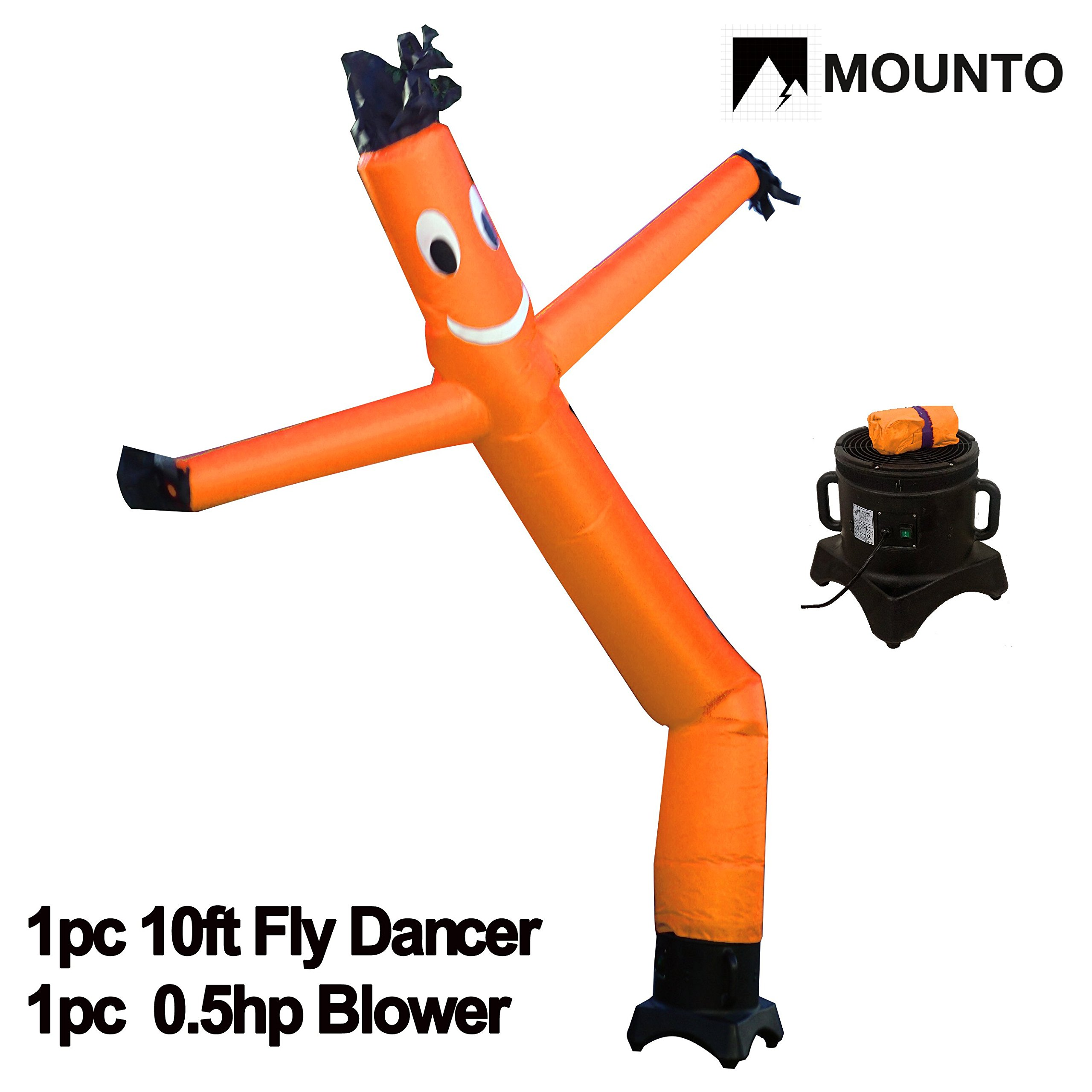 MOUNTO 10ft Air Puppet Dancer with blower Complete Set, 10-Feet (ORANGE)
