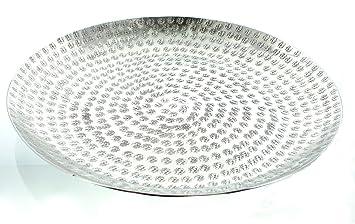 Deko Schale U201eHammerschlagu201c Handgehämmertes Aluminium In Trendigem Silber,  Modernes Design