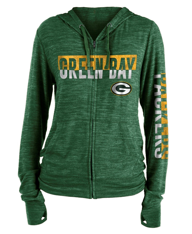 New Era グリーンベイパッカーズ レディース NFL ファンブルスペース染め フード付きスウェットシャツ Small  B07DPTBZ1K