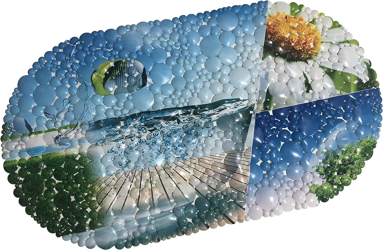Seestern RHP Badewanneneinlage Badewannenmatte Duschmatte Anti-Rutsch-Matte Dusche Badewanne 35 x 67 cm