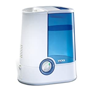 Vicks VH750 Warm Mist Humidifier - Blue/White