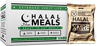 product image for XMRE Halal 1000 Meals Ready to Eat - Fully Cooked-No Refrigeration - Perfect for Camping, Hiking, Traveling, Emergency Supplies, Disaster Preparedness-12 Meals Per Case-Made in The USA