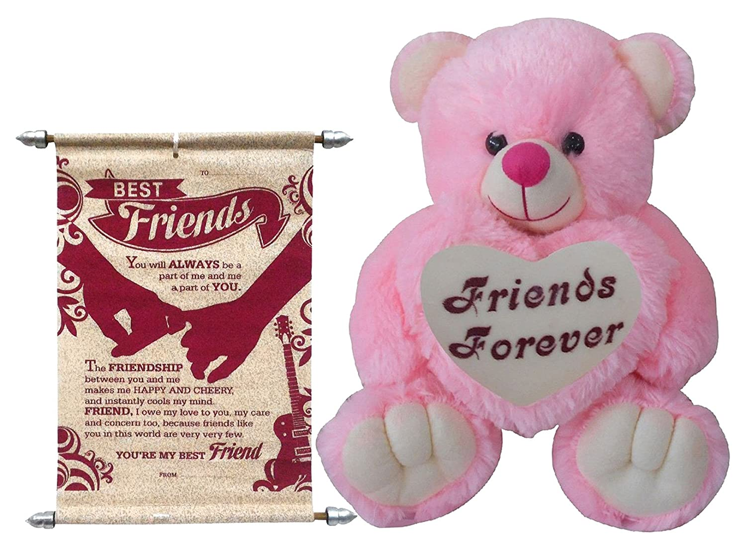 Buy Friends Forever Teddy With Scroll Card Online At Low Prices In India